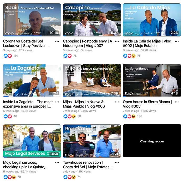 Mojo Estates produccion video video seo